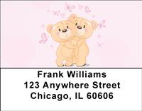Romantic Teddy Bears Address Labels