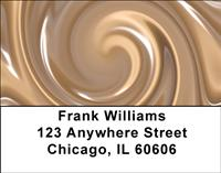 Chocolate Swirl Address Labels