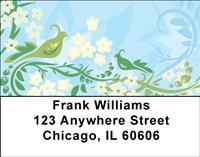 Stylistic Peacocks Address Labels