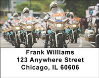 Police Motorcycles Address Labels