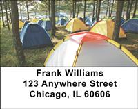 Tent Camping Address Labels
