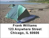 Beach Camping Address Labels