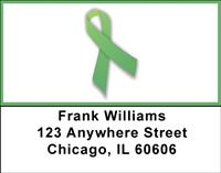 Green Ribbon Address Labels