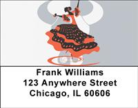 Spanish Dancing Address Labels