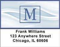 Simple Monogram M Address Labels