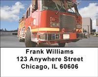 Fire Trucks Address Labels