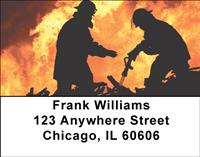 Battling Firefighters Address Labels