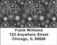 Indian Paisley Address Labels