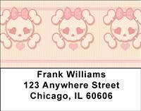 Girly Skulls Address Labels