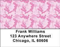 Pink Camo Address Labels