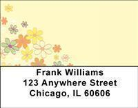 Hippie Flowers Address Labels