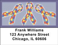 Autism Ribbons Address Labels
