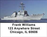 Navy Destroyers Address Labels