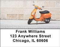 Retro Scooters Address Labels