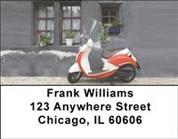 Vintage Scooters Address Labels