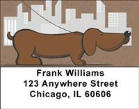 Cartoon Dachshunds Address Labels
