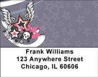 Skulls and Wings Address Labels