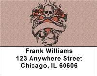 Skull Emblems Address Labels