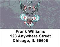 Skull Art Address Labels