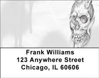 Skull Sketches Address Labels