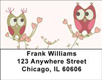 Owls in Love Address Labels