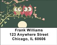 Owl Couple Address Labels