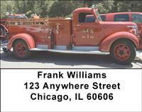 Antique Fire Trucks Address Labels