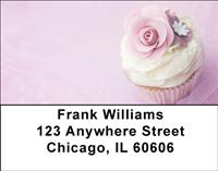Floral Cupcakes Address Labels