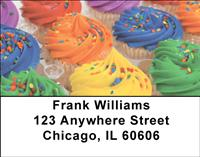 Colorful Cupcakes Address Labels
