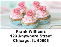 Rosebud Cupcakes Address Labels