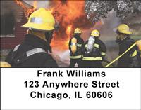 Firefighters At Work Address Labels