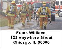Firemen To The Rescue Address Labels