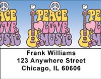 Peace Love Music Address Labels