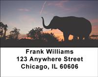 Sunset Elephants Address Labels