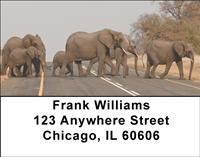 Elephants Crossing Address Labels