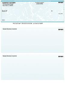 Teal Marble Laser Business One Per Page Voucher Checks Top Style