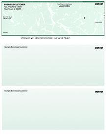 Green Marble Laser Business One Per Page Voucher Checks Top Style