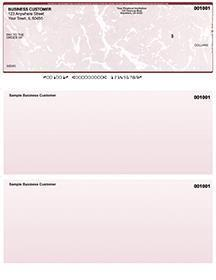 Burgundy Marble Laser Business One Per Page Voucher Checks Top Style