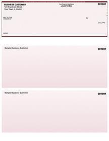 Burgundy Safety Laser Business One Per Page Voucher Checks Top Style
